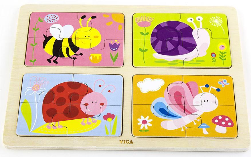 Пазлы для детей картинки из четырех частей, открытки